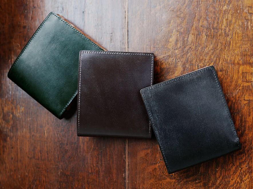 土屋鞄製作所のブライドル 二折財布 3種