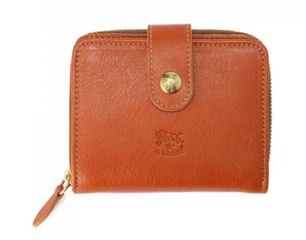 イルビゾンテの二つ折り財布 ロゴ