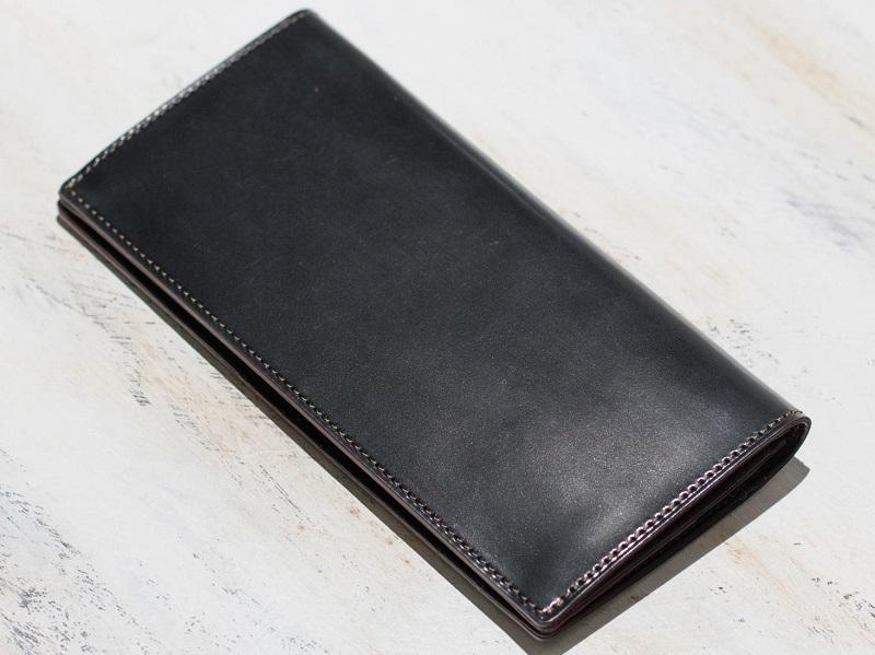 フジタカのシェルコードバン 長財布 カード段13