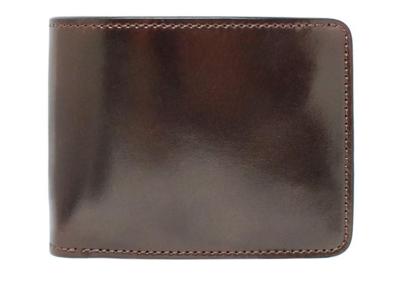 ワイルドスワンズのシェルコードバン グラウンダー 二つ折り財布