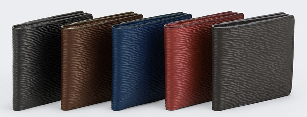 アニアリ二つ折り財布(ウェーブレザー)5色