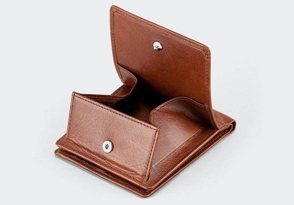 アニアリ 二つ折り財布(アンティークレザー)01-20000 箱マチ式のコイン室