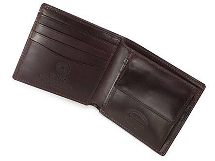 シェルコードバン2・小銭入れ付き二つ折り財布 内側
