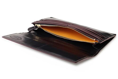 シェルコードバン2・ファスナー小銭入れ付き長財布 内側