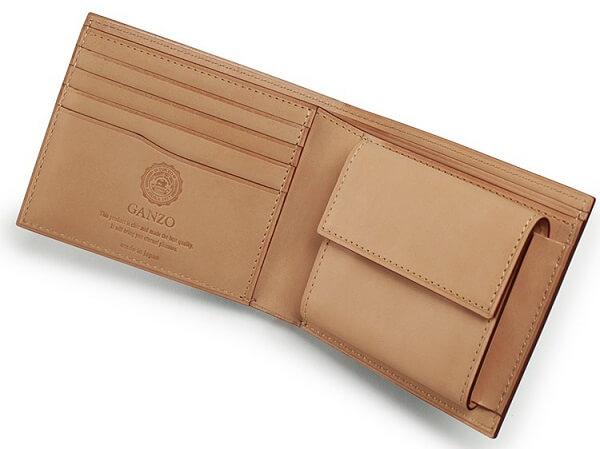 コードバン・小銭入れ付き二つ折り財布 内側