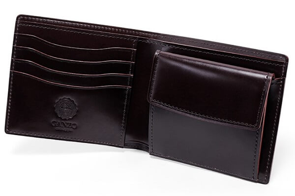 コードバンルチダ・小銭入れ付き二つ折り財布 内側