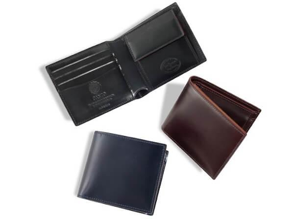 シェルコードバン2・小銭入れ付き二つ折り財布