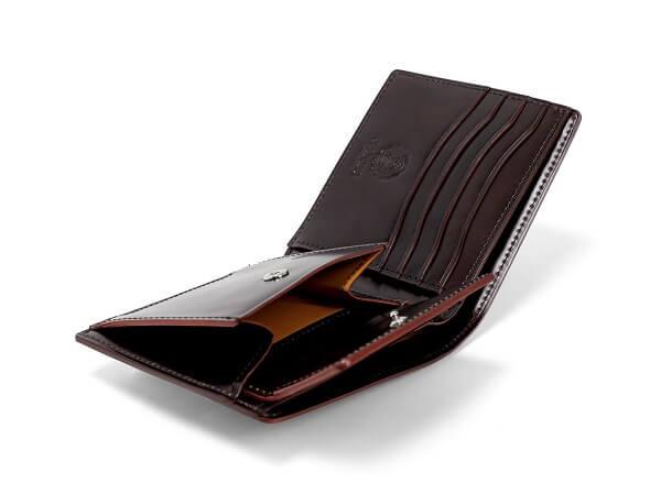 CORDOVAN LUCIDA (コードバンルチダ) 小銭入れ付き二つ折り財布c