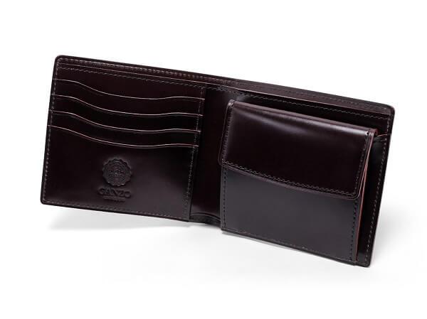 CORDOVAN LUCIDA (コードバンルチダ) 小銭入れ付き二つ折り財布u