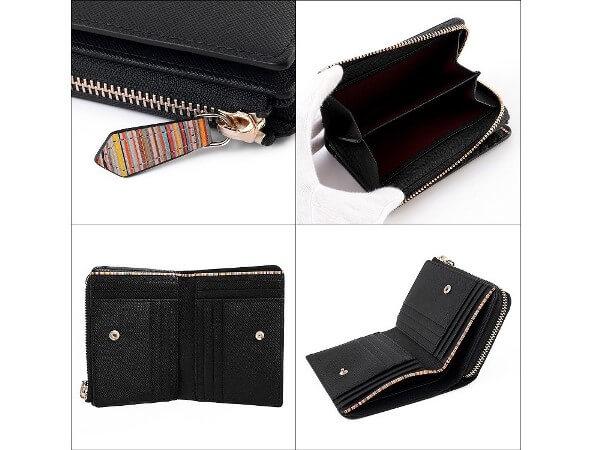 ジップストローグレイン 二つ折り財布
