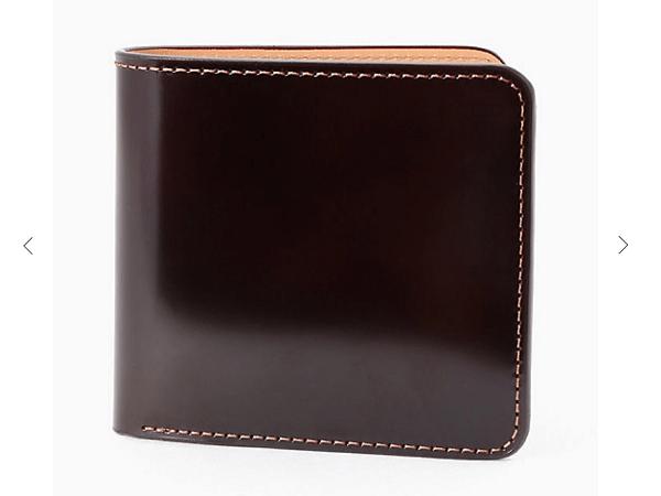 大峽製鞄:二つ折り財布(小銭入れ付)