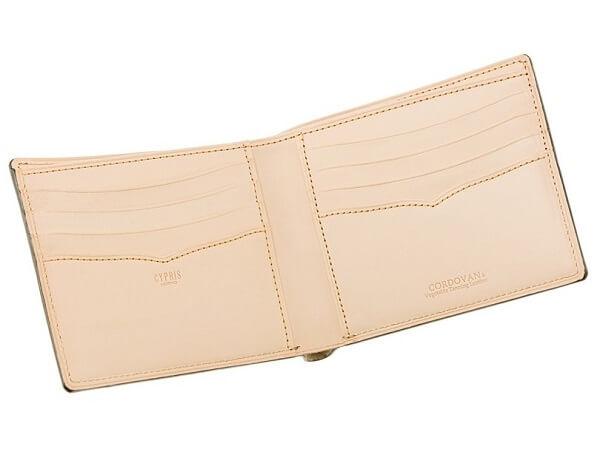 二つ折り財布(カード札入)■新コードバン&ベジタブルタンニン