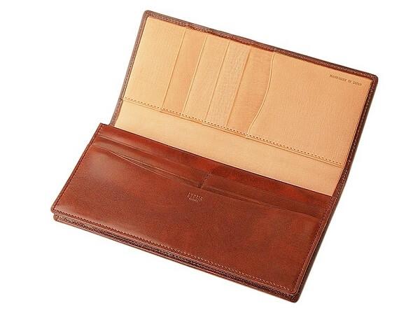 長財布(小銭入れ付き通しマチ束入)■シラサギレザー