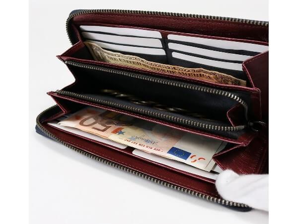 タットII ラウンドファスナー長財布