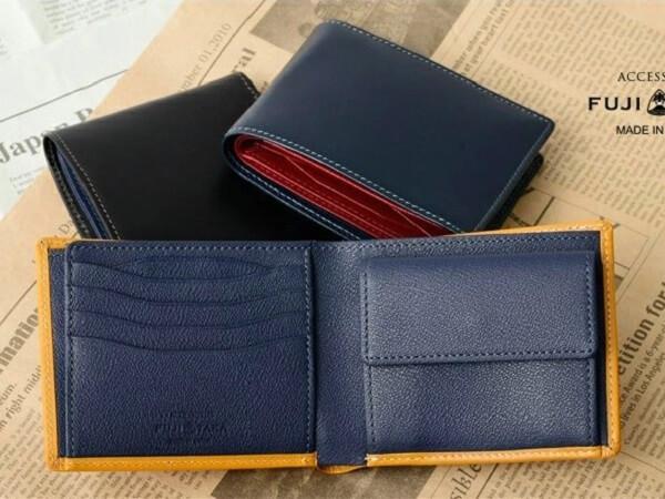 フジタカ ブライドルレザー 二つ折り財布 カード段11