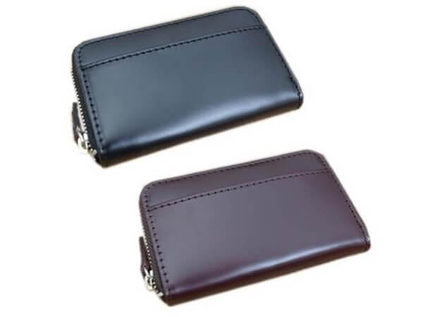 ラウンドファスナー小銭入れ付きミニ財布