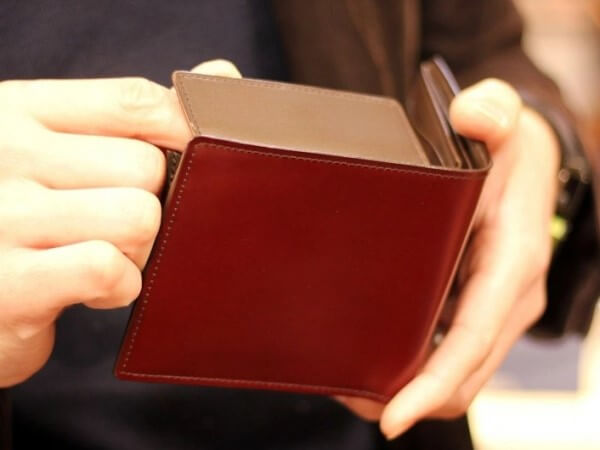 ソメスサドル コードバン 二つ折り財布